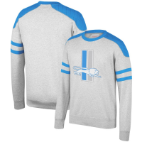Mitchell & Ness Detroit Lions Gray Post Season Run Crew Neck Sweatshirt