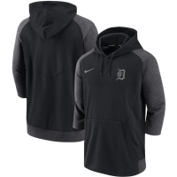 Nike Detroit Tigers Black Authentic Collection Flux 3/4 Sleeve Pullover Hoodie