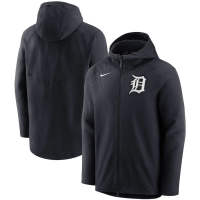 Nike Detroit Tigers Pitch Blue Authentic Collection Pregame Performance Full-Zip Hoodie Jacket