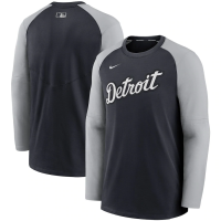 Nike Detroit Tigers Pitch Blue Authentic Collection Pregame Performance Raglan Pullover Sweatshirt