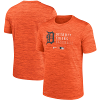 Nike Detroit Tigers Team Orange Heather Authentic Collection Dri-FIT Velocity Practice Performance T-Shirt