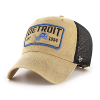 47 Brand Detroit Lions Khaki Gaudet Clean Up Adjustable Hat