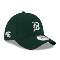 New Era Detroit Tigers 39Thirty Green Michigan State Spartans Co-Branded Tech Flex Fitted Hat