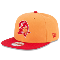 New Era Tampa Bay Buccaneers Orange 9Fifty Baycik Snapback Adjustable Hat