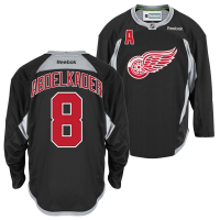 Reebok Detroit Red Wings Black Justin Abdelkader Center Ice Practice Jersey b6188b2b6