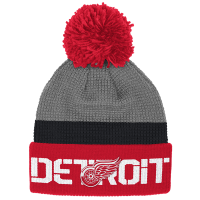 ca2c9057 Reebok Detroit Red Wings Red Center Ice Cuffed Pom Knit