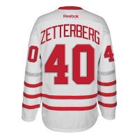 a6aeadbac Reebok Detroit Red Wings White Henrik Zetterberg 2017 Centennial Classic  Premier Jersey