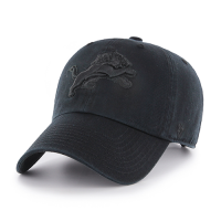 47 Brand Detroit Lions Black Clean Up Adjustable Cap