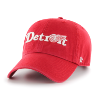 47 Brand Detroit Red Wings Red Script Clean Up Adjustable Cap