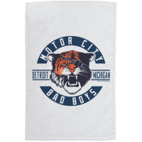 Motor City Bad Boys White Detroit Michigan Tiger Rally Towel