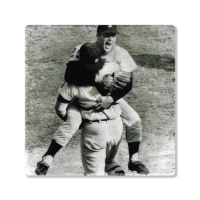 Second Story Mickey Lolich & Bill Freehan Stone Tile Coaster