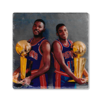 Second Story Isiah Thomas & Joe Dumars Stone Tile Coaster