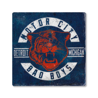 Second Story Motor City Bad Boys Tiger Stone Tile Coaster