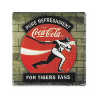 Second Story Tiger Stadium Coca-Cola Sign Stone Tile Coaster