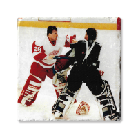 Second Story Mike Vernon & Patrick Roy Fight March 26, 1997 Tile Coaster