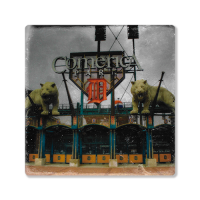 Second Story Comerica Park Front Door Stone Tile Coaster