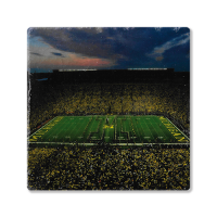 Second Story Under the Lights University of Michigan Stone Tile Coaster