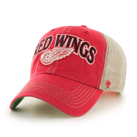 47 Brand Detroit Red Wings Red Tuscaloosa Clean Up Adjustable Snapback Cap