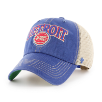 47 Brand Detroit Pistons Royal Tuscaloosa Clean Up Adjustable Snapback Cap