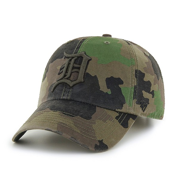 quality design 6ab19 6c4e4 47 Brand Detroit Tigers Camo Howitzer Clean Up Adjustable Cap