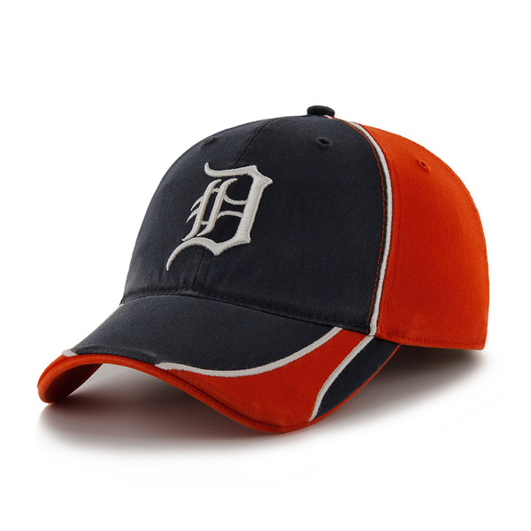 new concept 3ee2d 343e7 47 Brand Men s Detroit Tigers Orange Navy Switchback Stretch Fit Cap